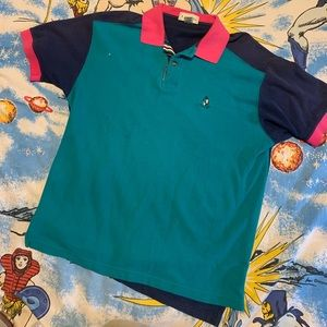 Vintage Izod Men's Color Blocked Polo Shirt
